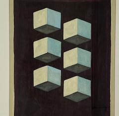 5 Watercolors Adrian Murphy Telespective Related Forms Mandala Rising 1970  - 2094163
