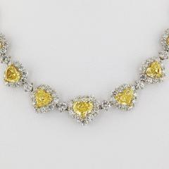 50 CARAT FANCY INTENSE YELLOW HEART AND WHITE DIAMOND INFINITY NECKLACE - 2153016