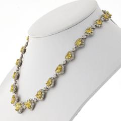 50 CARAT FANCY INTENSE YELLOW HEART AND WHITE DIAMOND INFINITY NECKLACE - 2153017