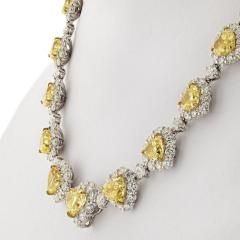 50 CARAT FANCY INTENSE YELLOW HEART AND WHITE DIAMOND INFINITY NECKLACE - 2153018