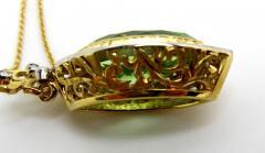7 48 Carat Peridot and Diamond 18 Karat Yellow and White Gold Necklace - 1101846