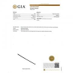 7 90 Carat GIA Certified Blue Sapphire Diamond Halo Gold Bracelet - 396181