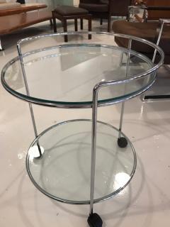 70 s chrome bar cart - 1046675