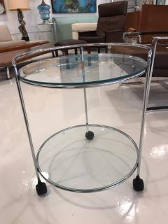 70 s chrome bar cart - 1046676