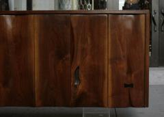 Phillip Lloyd Powell Wall Hung Walnut Cabinet USA c 1966 - 10178
