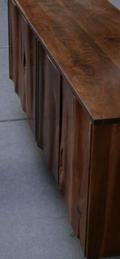 Phillip Lloyd Powell Wall Hung Walnut Cabinet USA c 1966 - 10179