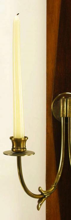 Grosfeld House Sunburst Top Mirror With Integral Brass Sconces c 1950s - 13855