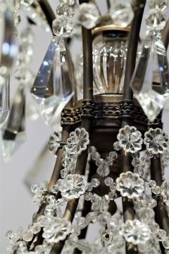 8 Light Beaded Crystal Balloon Chandelier Circa 1900 Italy - 1687519