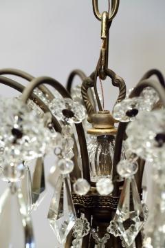 8 Light Beaded Crystal Balloon Chandelier Circa 1900 Italy - 1687523