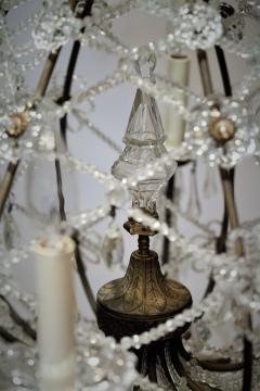 8 Light Beaded Crystal Balloon Chandelier Circa 1900 Italy - 1687526