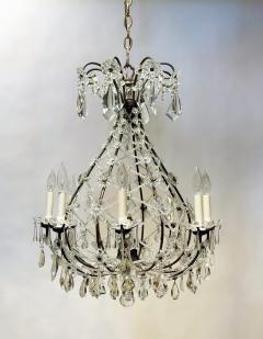 8 Light Beaded Crystal Balloon Chandelier Circa 1900 Italy - 1687531