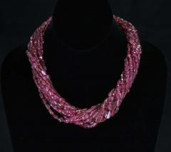 820 Carat Genuine and Natural Plain and Smooth Tourmaline Tumbled Beads Necklace - 1844495