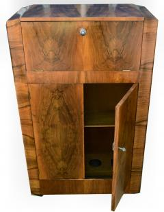 930s Art Deco Walnut Cocktail Bar - 1032017