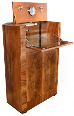 930s Art Deco Walnut Cocktail Bar - 1032019