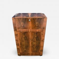 930s Art Deco Walnut Cocktail Bar - 1032663