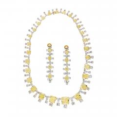 94 65 CTS RADIANT CUT FANCY YELLOW DIAMOND INFINITY NECKLACE - 2153836