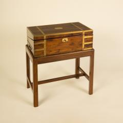 A 19th C English lap desk on wooden stand circa 1860 - 2129182