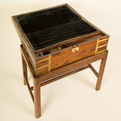 A 19th C English lap desk on wooden stand circa 1860 - 2129183