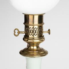 A 19th C pair of porcelain and ormolu mounted oil lamps by Gagneau French - 1160412