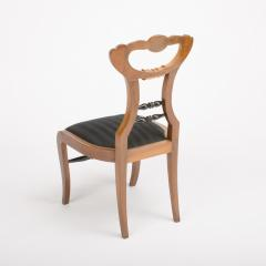 A 19th Century Biedermeier chair upholstered with black striped silk fabric - 1646986