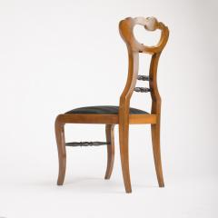 A 19th Century Biedermeier chair upholstered with black striped silk fabric - 1646987