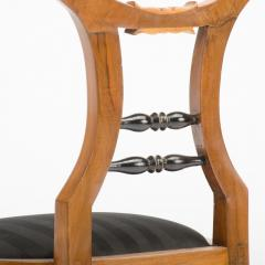 A 19th Century Biedermeier chair upholstered with black striped silk fabric - 1646990