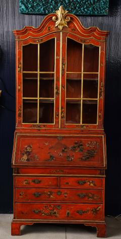 A 19th Century English Red Lacquer Secretary - 1459100