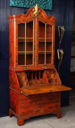 A 19th Century English Red Lacquer Secretary - 1459101