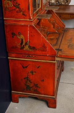 A 19th Century English Red Lacquer Secretary - 1459103