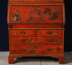 A 19th Century English Red Lacquer Secretary - 1459117