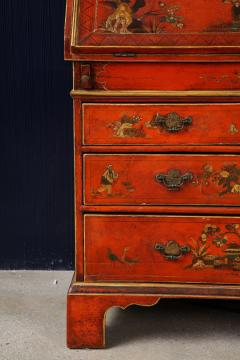 A 19th Century English Red Lacquer Secretary - 1459118