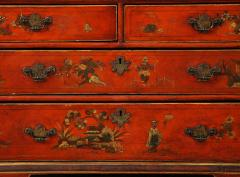 A 19th Century English Red Lacquer Secretary - 1459119