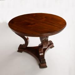 A 19th Century Irish Empire mahogany center table circa 1830 - 1661004