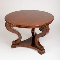 A 19th Century Irish Empire mahogany center table circa 1830 - 1661008