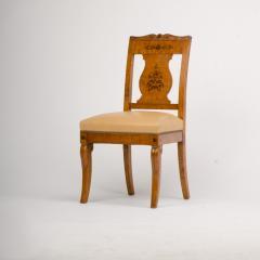 A 19th Century burlwood chair in the Biedermeier style - 1646979