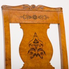 A 19th Century burlwood chair in the Biedermeier style - 1646989