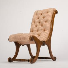 A 19th Century walnut chair tufted upholstered - 1646974