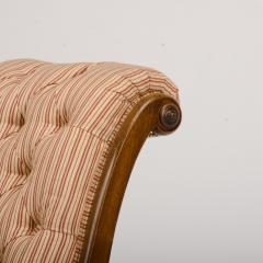 A 19th Century walnut chair tufted upholstered - 1646976