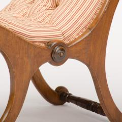 A 19th Century walnut chair tufted upholstered - 1646980