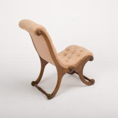 A 19th Century walnut chair tufted upholstered - 1646988