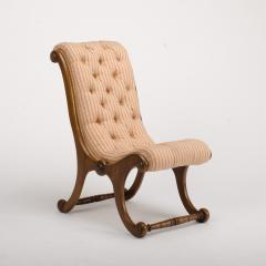 A 19th Century walnut chair tufted upholstered - 1646993