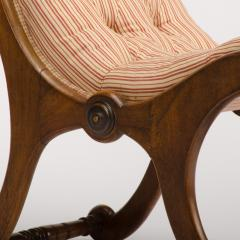 A 19th Century walnut chair tufted upholstered - 1647002