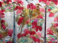 A Beautiful Embroidered Vintage Japanese Ceremonial Kimono - 426085