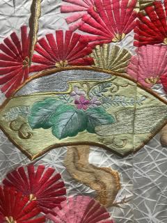 A Beautiful Embroidered Vintage Japanese Ceremonial Kimono - 426097