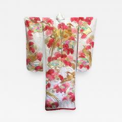 A Beautiful Embroidered Vintage Japanese Ceremonial Kimono - 427477