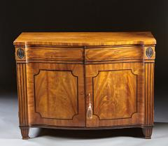A Beautiful George III Serpentine Inlaid Mahogany Cabinet - 613215