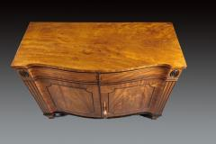 A Beautiful George III Serpentine Inlaid Mahogany Cabinet - 613216