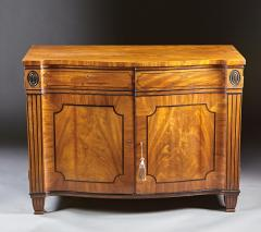 A Beautiful George III Serpentine Inlaid Mahogany Cabinet - 613219