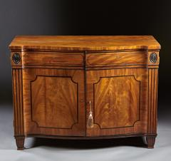 A Beautiful George III Serpentine Inlaid Mahogany Cabinet - 613220
