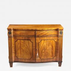 A Beautiful George III Serpentine Inlaid Mahogany Cabinet - 615533